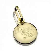 Medalha Agnus Dei De Ouro 18k Jrjoalheiro.