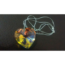 Maxi Colar Coração Cristal Swarovski Em Prata 925 - 4,0 Cm