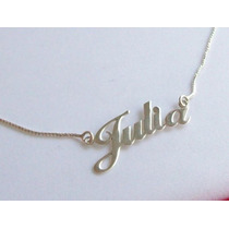 Gargantilha Personalizada Com Nome Em Prata 925