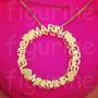 Colar Mandala Com Nomes Personalizados - Banhado A Ouro