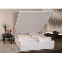 Cama Box Casal King Size Ortobom Americana Bau Cori Bianco 1