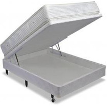 Colchão Magnético Vibro Massagem Casal + Box Com Bau