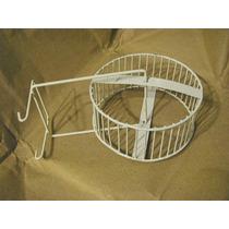 Roda Para Hamster - Branca Em Metal Ideal P/ Gaiola - Brinde
