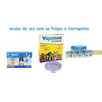 Kit Antipulgas K-spot 4ml Cães 7,5kg/15kg + Coleira Vaponex