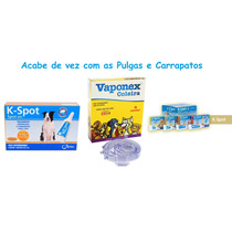 Kit Antipulgas Coleira Vaponex + K-spot 6ml Cães 15kg/22kg