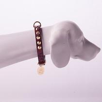 Coleira Woof Pet Com Strass Luxo Cobra Vermelha - Tam 12