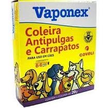 Coleira Para Cães 64cm Anti Pulgas E Carrapatos Vaponex 20g