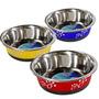 Comedouro 450ml Inox P/ Cachorros Cães Gatos Western Pet-80