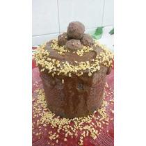 Natal Chocotone Gourmet Recheado Com Brigadeiro 1kg A106