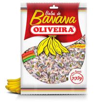04 Pacotes De Bala De Banana Oliveira 700g