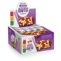 Barra De Mixed Nuts Cranberry - Caixa Fechada Com 6 Displ...