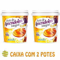 2 Potes De Pasta De Amendoim Integral Mandubim - 450g