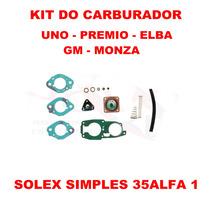 Kit Carburador Uno/premio/elba/fiat 147 Solex Simples 35alfa