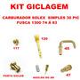 Kit Gicleur Fusca 1300 74/83 Solex Simples