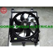 Defletor + Motor Da Ventoinha + Hélice Renault Clio Com Ar