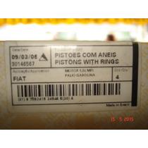 Jogo De Pistões Com Aneis Palio Fiorino 1.5 Mpi Gasolina 040