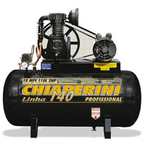 Compressor Chiaperini 10 Mpi/110l - Motor Monofasico 2 Hp