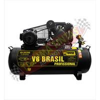 Compressor 20 Pes V8 5hp 200lt Monofasico - 01 Ano Garantia