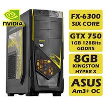Computador Para Jogos Fx-6300 3.5ghz Gtx750 8gb 500gb 430w