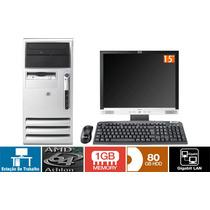 Computador Completo Athlon 64 1gb Hd 80gb + Monitor Lcd 15