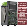 Pc Gamer Six Core Fx-6300, Gtx750ti, 8gb 1600, 400w 80plus