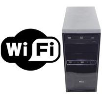 Pc Cpu Desktop Intel Core 2 Duo 2gb Hd 80gb Dvd Rede Wi-fi