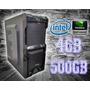 Cpu Gamer Intel/ 4gb/ 500gb/ Gt210/ Dvd/ Gab / Monitor 20m37