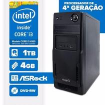 Visage Pc I3(core I3 4160/4gb/1tb/mb Asrock/dvd-rw/linux)