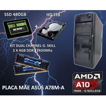 Computador Amd A10 7850k 12 Núcleos Ssd 480gb E Muito Mais!