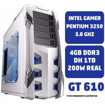Cpu Gamer Pc Intel Pentium G3220 4gb Hd 1tb Gt 610 Ga-h81m-h