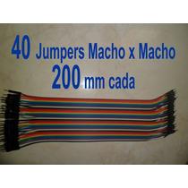 40 Jumpers 20cm P Protoboard Macho X Macho Arduino Raspberry