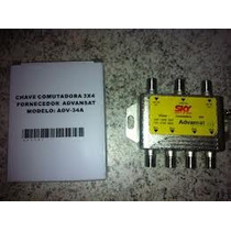 10 Chaves Comutadora 3x4 Sky Hd Advansat Adv 34a