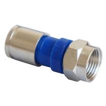 Kit Com 10 Conectores F Rg59 Rg6 De Compressão Coaxial Bnc