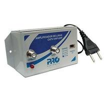Amplificador De Linha 30db Pqal-3000 Proeletronic Vhf Uhf