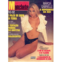 Manchete - 1992 - Marcia Gabrielle / Rio Eco 92