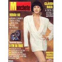 Manchete 1992.cláudia Raia.gorbachev.deborah Blando.moda