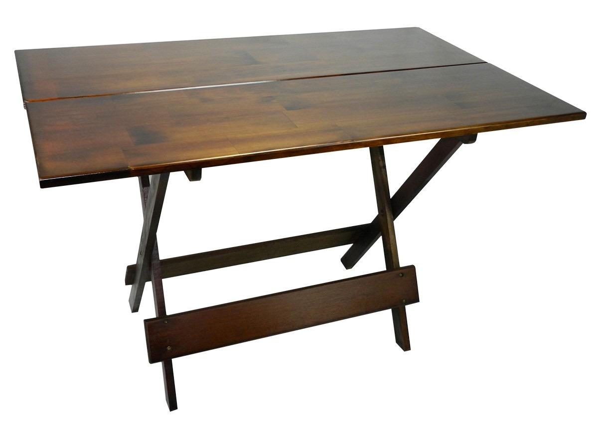 Conjunto De Cadeira E Mesa Dobrável Em Madeira 120x70 Imbuia R$ 339  #8E6C3D 1200x849