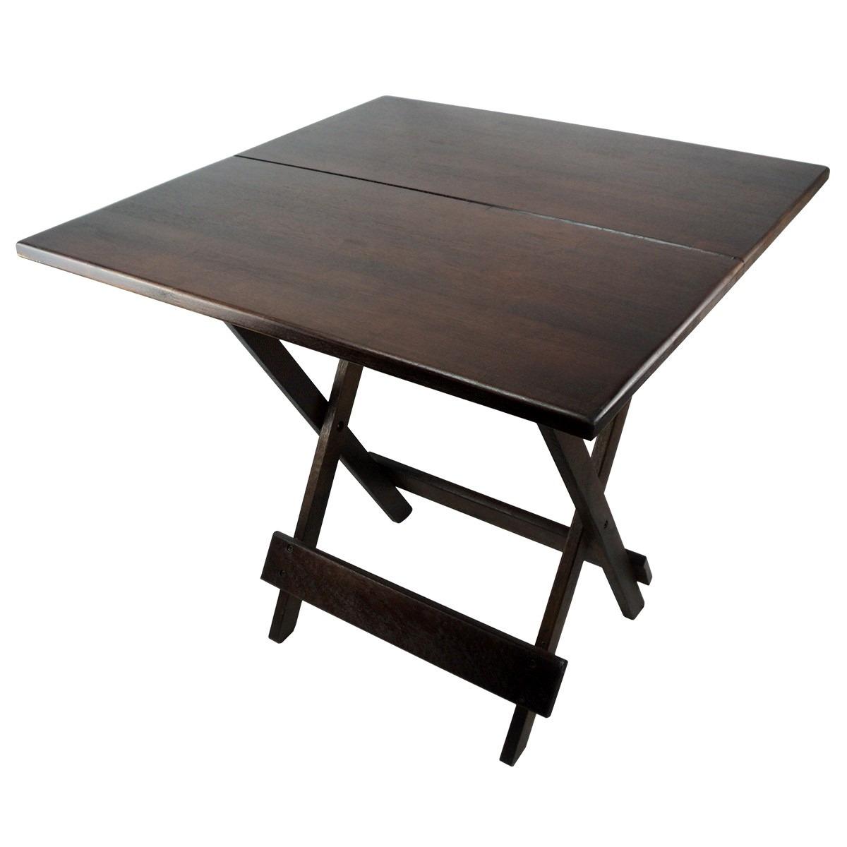 Conjunto De Cadeira E Mesa Dobrável Em Madeira 70x70 Imbuia R$ 299  #2C2421 1200x1200