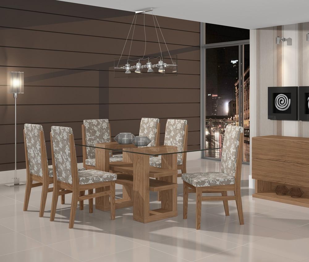 Sala De Jantar Com Copa ~ Conjunto De Mesa Com 6 Cadeiras 100% Mdf Copa  Sala Jantar  R$ 1879