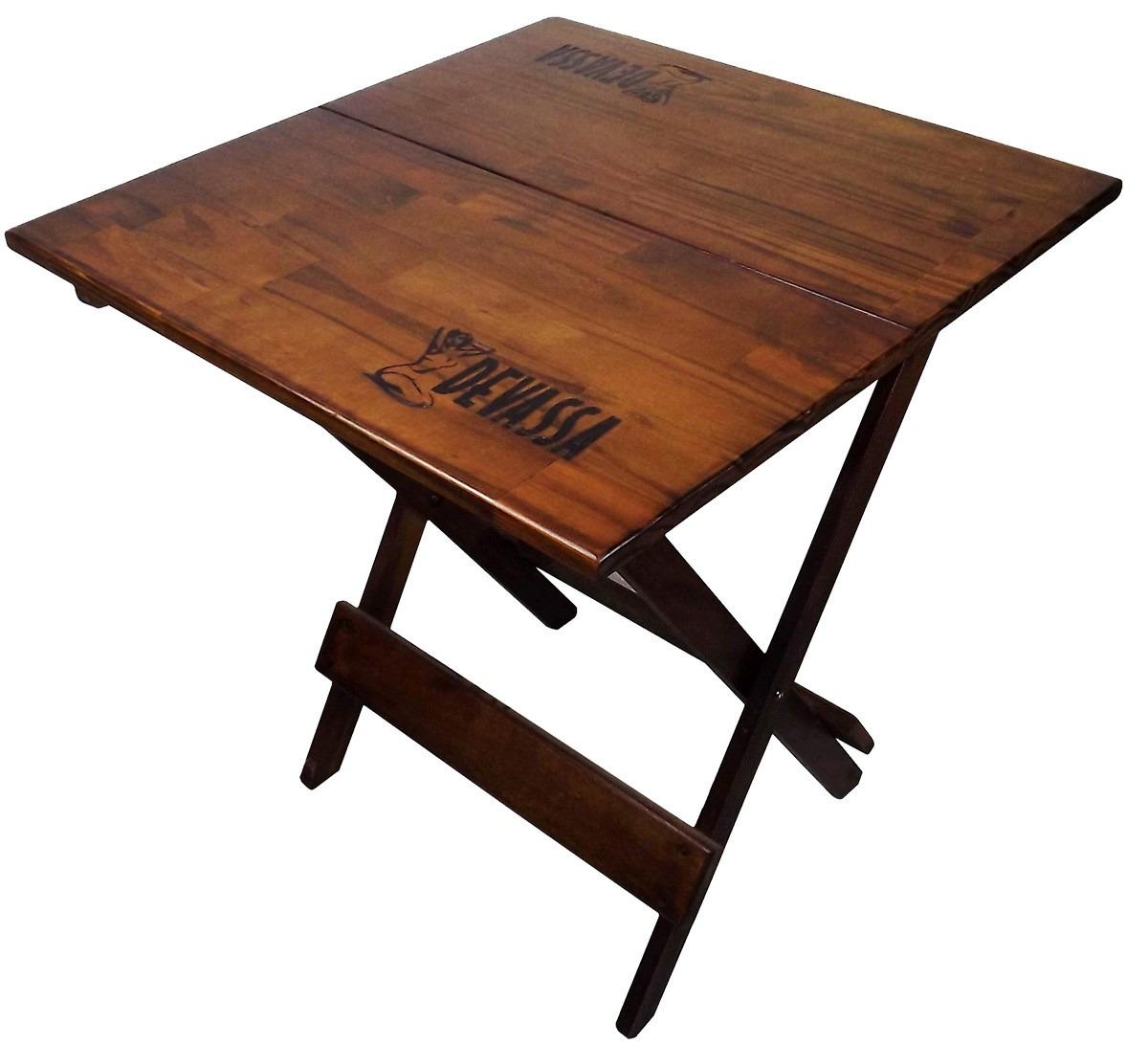 Conjunto De Mesa E 04 Cadeira Dobrável De Madeira Devassa R$ 319 90  #9E5A2D 1200x1092