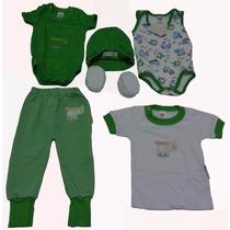 Kit Bordado Bebê Recém-nascido 6 Peças
