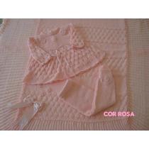 Saida Maternidade Manta Vestido Calçacomp Enxoval Bebe Nene