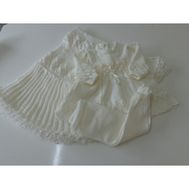 Saida Maternidade Manta, Vestido E Calça Em Lã - Trico