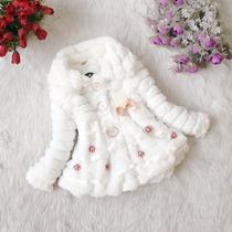 Casaco De Lã Inverno Para Bebês/nenên Branco - Batismo