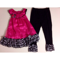 Conjunto Infantil Menina Blusa E Calça Estampa Animale
