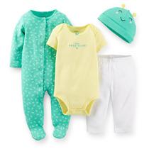 Conjunto Maternidade Menina Carters Kit 4 Pçs Green