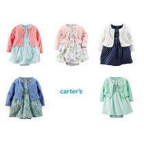 Conjunto Carters Vestido E Cardigan Menina Bebê Carter