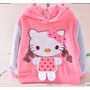 Conj Calça E Moleton - Plush Desenho Da Hello Kitty - Bebê