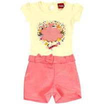 Conjunto Blusa Shorts Menina Princess Minore