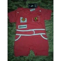 Macacão Ferrari Criança Recém Nascido Menina Infantil